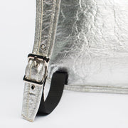 Silver - Pinatex - Pineapple - Backpack - Hamilton Perkins Collection - Earth Bag Slim - Close - Sustainability