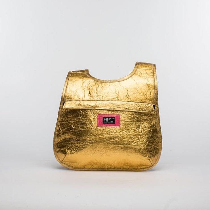 Gold - Pinatex - Pineapple - Backpack - Hamilton Perkins Collection - Earth Bag Slim - Front - Sustainability