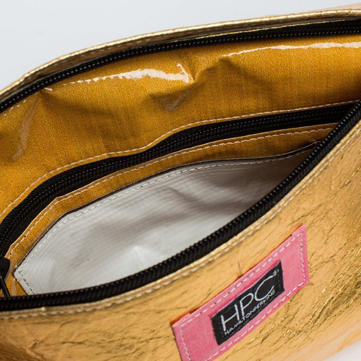 Gold - Pinatex - Pineapple - Backpack - Hamilton Perkins Collection - Earth Bag Slim - Inside - Sustainability