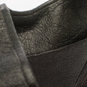 Black - Pinatex - Pineapple - Backpack - Hamilton Perkins Collection - Earth Bag Slim - Close Up - Sustainability