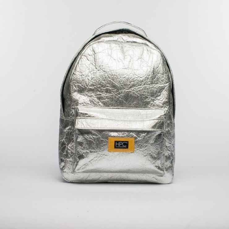 Silver - Pinatex - Pineapple - Backpack - Hamilton Perkins Collection - Earth Bag Standard - Front - Sustainability