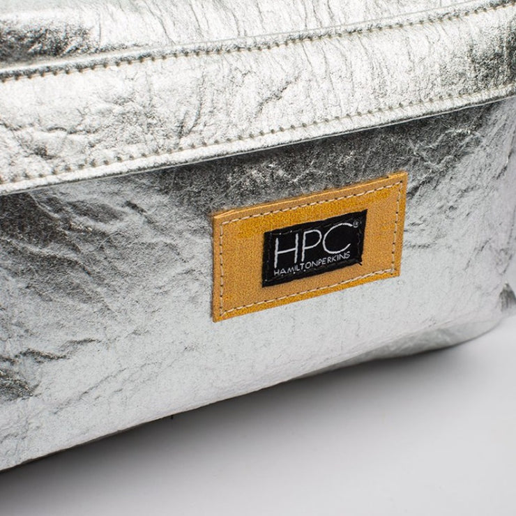Silver - Pinatex - Pineapple - Backpack - Hamilton Perkins Collection - Earth Bag Standard - Close Up - Sustainability
