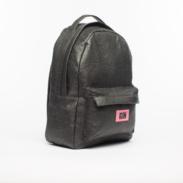 Black - Pinatex - Pineapple - Backpack - Hamilton Perkins Collection - Earth Bag Standard - Side - Sustainability
