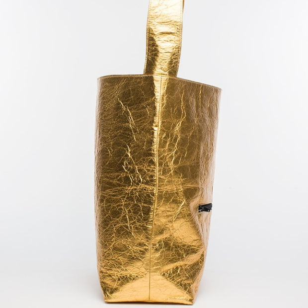 Earth Bag Hobo, Gold Pineapple - Hamilton Perkins Collection