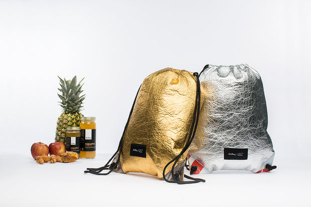 Fruitive Gold - Pinatex - Pineapple - Drawstring - Hamilton Perkins Collection - Backpack - Pineapple Set - Sustainability