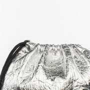 Fruitive Silver - Pinatex - Pineapple - Drawstring - Hamilton Perkins Collection - Backpack - Close - Sustainability