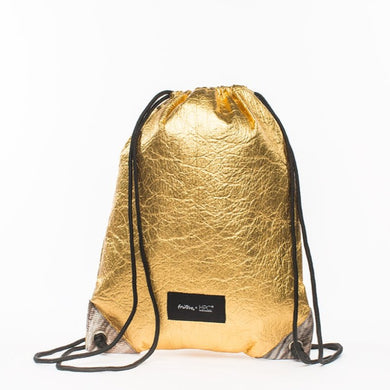 Fruitive® x Hamilton Perkins Collection® - Earth Bag Drawstring, Gold Pineapple