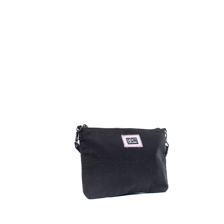 Earth Bag Crossbody, Black (Recycled Plastic Bottle Series)