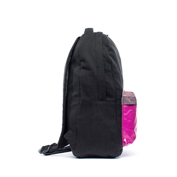 Black - Recycled Plastic Water PET Bottles - Recycled - Backpack - Hamilton Perkins Collection - Side - Sustainability