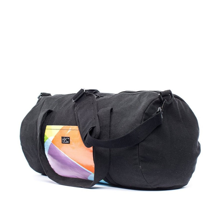 Black - Recycled Plastic Water PET Bottles - Recycled -Duffel Bag - Hamilton Perkins Collection - Front - Sustainability