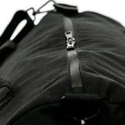 Black - Recycled Plastic Water PET Bottles - Recycled -Duffel Bag - Hamilton Perkins Collection - Zipper - Sustainability