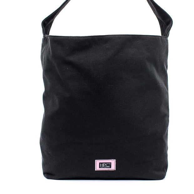 Black - Recycled Plastic Water PET Bottles - Recycled - Hobo - Hamilton Perkins Collection - Earth Bag Hobo - Front - Sustainability