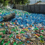 Recycled Plastic Water Bottles And Trash Can in Haiti Port Au Prince