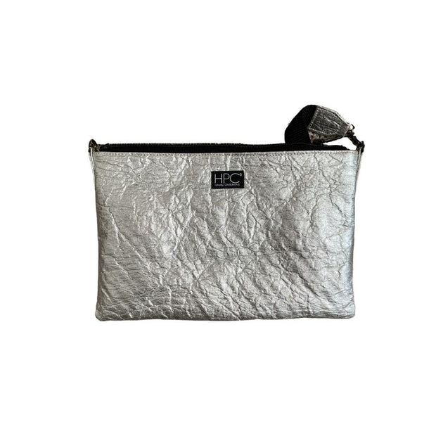 Earth Bag Crossbody, Silver Pineapple