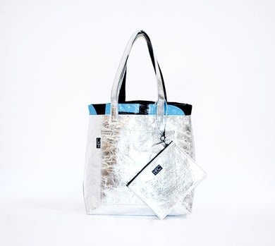 Earth Tote [Reversible], Silver Pineapple