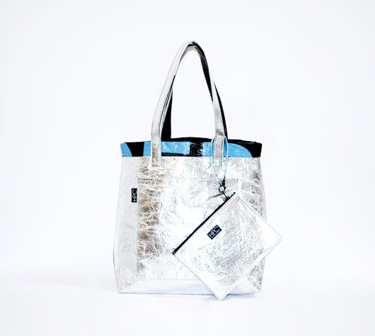Earth Tote [Reversible], Silver Pineapple - Hamilton Perkins Collection