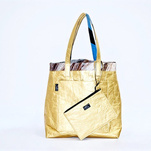 Earth Tote [Reversible], Gold Pineapple - Hamilton Perkins Collection