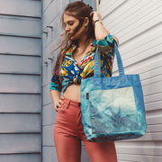 Ivan Vasquez Lifestyle Hamilton Perkins Collection Blue Green Tote