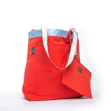 Earth Tote [Reversible], Red - Hamilton Perkins Collection