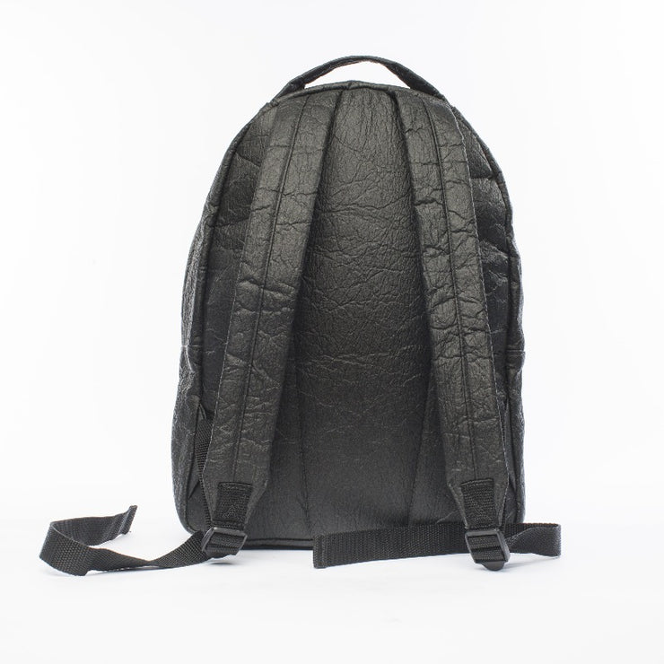 Black - Pinatex - Pineapple - Backpack - Hamilton Perkins Collection - Earth Bag Standard - Back - Sustainability