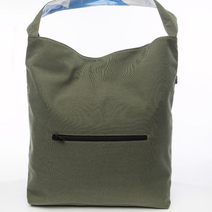 Earth Bag Hobo, Green - Hamilton Perkins Collection