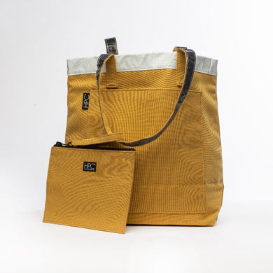 Earth Tote [Reversible], Yellow - Hamilton Perkins Collection