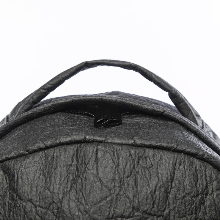 Black - Pinatex - Pineapple - Backpack - Hamilton Perkins Collection - Earth Bag Standard - Close Up - Sustainability
