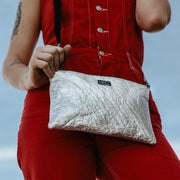 Hollie Hamby Lifestyle Photography Hamilton Perkins Collection Pinatex Pineapple Silver Purse Sustainability