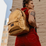 Hollie Hamby Lifestyle Hamilton Perkins Collection Pinatex Pineapple Backpack Close Up