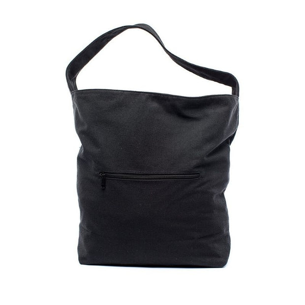 Earth Bag Hobo, Black (Recycled Plastic Bottle Series)