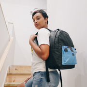 Brian Washington Lifestyle Hamilton Perkins Collection Black Pinatex Pineapple Backpack Close Up