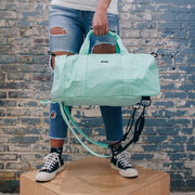 Brian Washington Lifestyle Hamilton Perkins Collection Seafoam Green Convertible Backpack