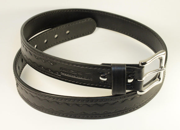Standard Classic Leather Belt - Black Swamp Leather Company