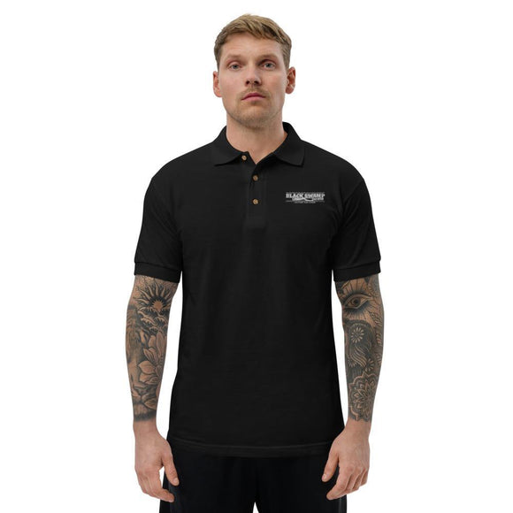 Embroidered Polo Shirt - Black Swamp Leather Company