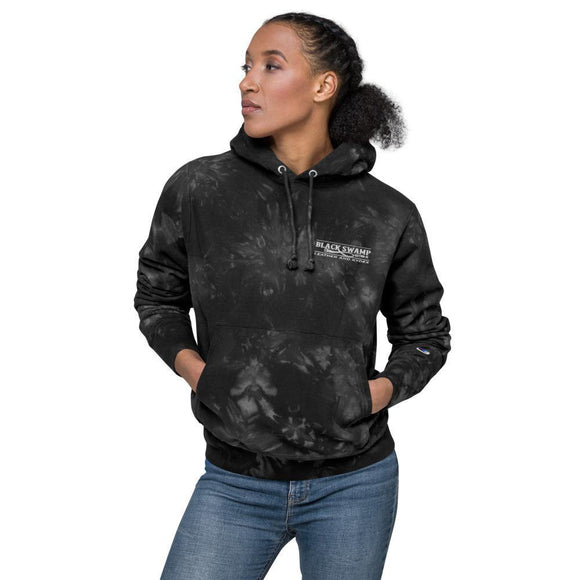 Unisex Champion tie-dye hoodie - Black Swamp Leather Company