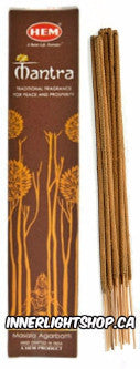 Mantra Incense Sticks by Hem - Inner Light Shop