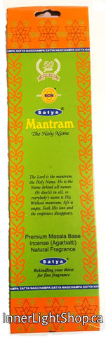 Mantram Satya Incense Inner Light Shop - Inner Light Shop