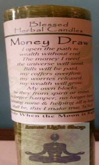Blessed Herbal Candle Money Draw