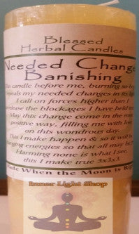 Blessed Herbal Candle Needed Changes Banishing