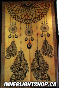 Orange & Black Dream Catcher Tapestry