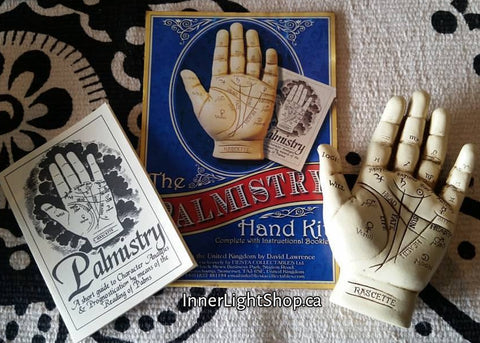 Palmistry Hand Kit  with Instructional Booklet - Inner Light Shop