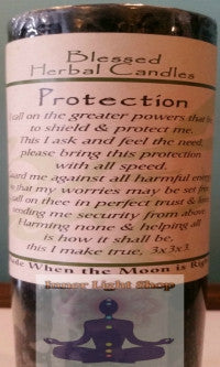 Blessed Herbal Candle Protection