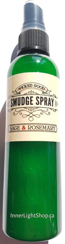 Smudge Spray: Sage & Rosemary (Room Spray) - Inner Light Shop