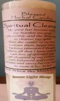 Blessed Herbal Candle Spiritual Cleansing