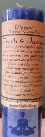 Blessed Herbal Candle Truth & Justice