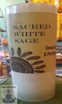 Sacred White Sage Candle - Inner Light Shop
