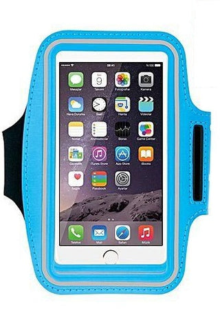 "Azure Sport - Sweat Proof Running Armband for APPLE iPhone 6,6S,7,8, 5.5"" - Blue"