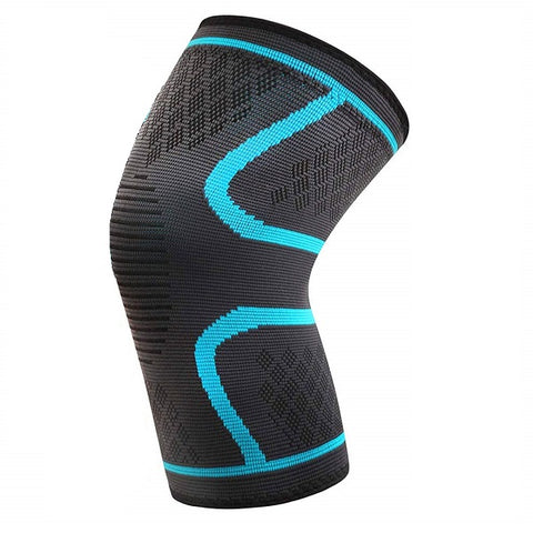 Azure Sport Elastic Knee Support Brace - Blue