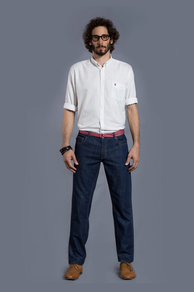 Mid Blue Classic Jeans
