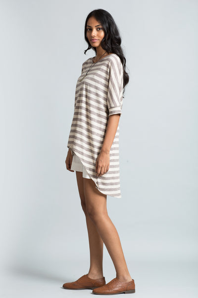 Slouchy striped  t shirt.